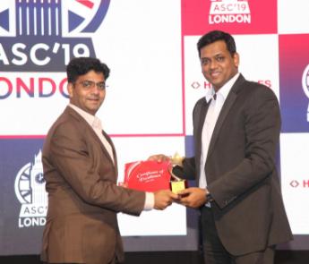 Individual Performer Award at ASC 2019- London